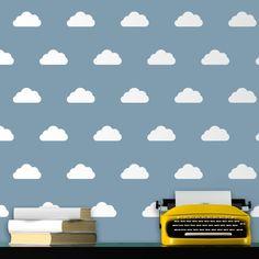 Vinilos Decorativos: Kit de 12 vinilos de nubes #teleadhesivo #vinilosdecorativos #decoracion #patrones #mosaico #nubes