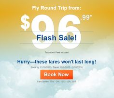 Flash Sale: Fly from $96.99!  https://freshpickeddeals.com/cheapoair.com/flash-sale-fly-from-9699-734191