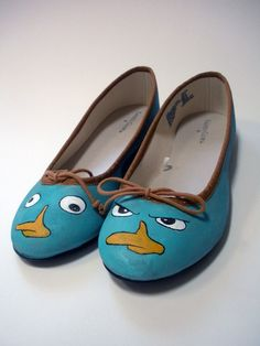 How cute are these? I love how one is 'Perry the Platypus' and the other is 'Agent P.' Clever.