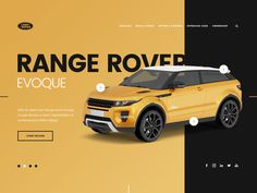 Range Rover Evoque - UI Design designed by PopArt Studio. Connect with them on Dribbble; Site Design, Ad Design, Layout Design, Car Advertising, Advertising Design, Affinity Photo, Range Rover Evoque, Ui Web, Web Layout