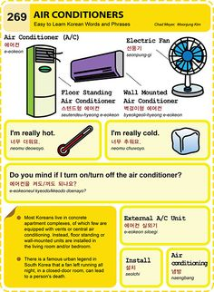 269 Learn Korean Hangul Air Conditioners