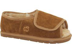 13e8fcf8ed1b98 Lamo Men s Open Toe Wrap - Wool Slipper is lined with genuine Merino wool   cool