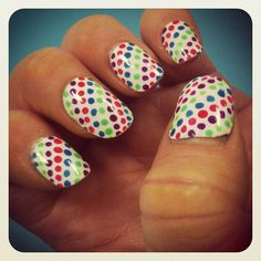 Poka dot nail art