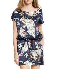 Baroque Round Collar Silk Dress-zeniche.com SKU aa0065