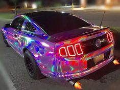 This is a awesome rainbow mustang – Autos online Bugatti, Maserati, Carros Lamborghini, Lamborghini Cars, Ferrari F40, Lamborghini Gallardo, Fancy Cars, Cool Cars, Bmw Autos