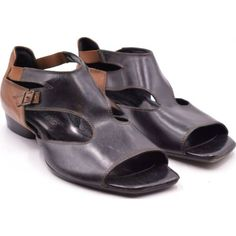 Barna-fekete Accatino Made in Italy szandál (Méret: Peeps, Peep Toe, Italy, Sandals, How To Make, Shoes, Fashion, Italia, Shoes Sandals