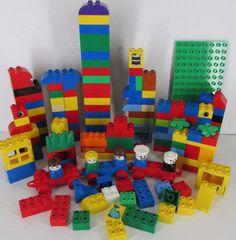 Lego Duplo Building Blocks Parts Huge 150+ Piece Lot  People Building Plate #A #LEGO