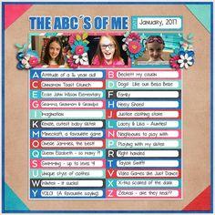 The ABC's of me - Scrapbook.com