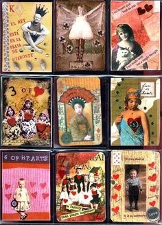 using playing cards to make artist trading cards - Google Search