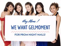 Prom coming soon! Colours that match your prom dresses! easy to use gel polish! GelMoment