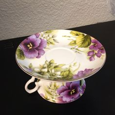 "Tea Cup & Saucer made into a ""Cup Cake Stand"" top view"