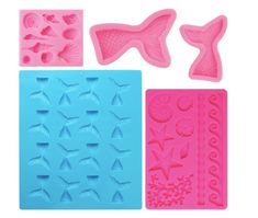 Mermaid Tail Mold Seashell Silicone Candy Cake Molds Under The Sea Party Cake Decoration Making Sugar Craft Chocolate Ice Cube Tray Soap Paint Pens, Paint Markers, Silicone Mermaid Tails, Watercolor Brush Pen, Under The Sea Party, Sugar Craft, Square, Soap Molds, Pen Sets