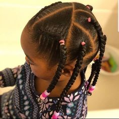 Toddler Braided Hairstyles, Lil Girl Hairstyles, Black Kids Hairstyles, Girls Natural Hairstyles, Weave Hairstyles, Baddie Hairstyles, Curly Hair Styles, Natural Hair Styles, Pelo Afro