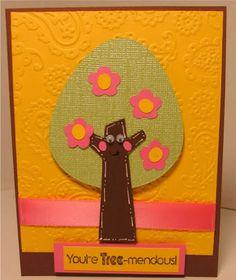 Tree Cricut card. (Simple Charmed)