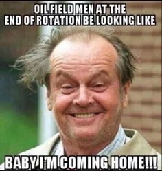 Lol....I don't care what my man looks like when he comes home just happy to get him back