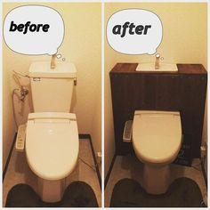 トイレ空間をオシャレに♡トイレのタンクを隠すDIYが流行ってるよ!   CRASIA(クラシア)