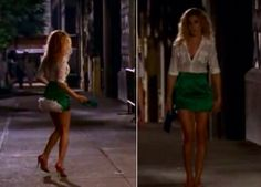 :: Favourite Carrie Bradshaw look - green Vivienne Westwood skirt with white bustle ::