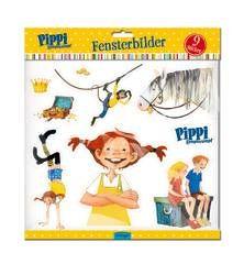 Pippi Langstrumpf Fensterbilder.