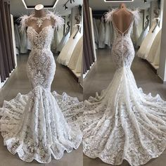 Vintage 2020 Full Lace Mermaid Wedding Dress Delivery In About 25 Days Sheer Wedding Dress, Western Wedding Dresses, Lace Mermaid Wedding Dress, Dream Wedding Dresses, Custom Wedding Dress, Backless Wedding, Ball Gown Dresses, Bridal Dresses, Prom Dresses