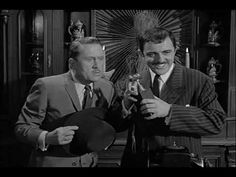 """The Addams Family (1964) S01E01 - Train Crash Scene    """"Why else would a grown man play with trains?"""""""