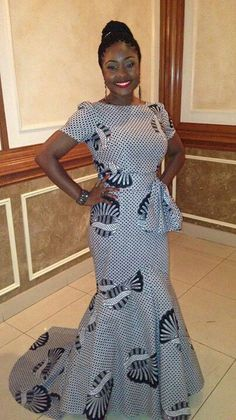Fish Tail African Print Dress by MyAnkaraLove on Etsy African Inspired Fashion, African Print Fashion, Africa Fashion, Fashion Prints, African Print Dresses, African Fashion Dresses, African Dress, African Prints, African Dashiki