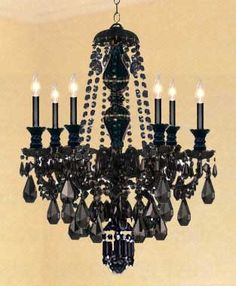 Frivolous fabulous chandelier with added black feathers frivolous fabulous chandelier with added black feathers halloween glamour chandeliers pinterest black feathers chandeliers and feathers mozeypictures Image collections