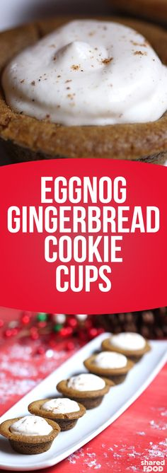 Homemade gingerbread is where it's at, just make them into a cup to fill with what else then eggnog cheesecake filling! These are pretty mini too, so go ahead and eat it in one bite!