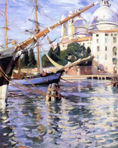 Wilfred Gabriel De Glehn - On the Canals, Venice, Italy