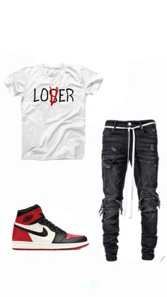 Buy and sell authentic Jordan 1 Retro High Bred Toe shoes and thousands of other Jordan sneakers with price data and release dates. Summer Swag Outfits, Teen Swag Outfits, Dope Outfits For Guys, Stylish Mens Outfits, Nike Outfits For Men, Jordans Outfit For Men, Trendy Mens Fashion, Swag Fashion, Jordan Outfits