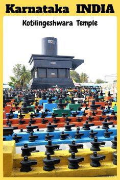 Tall Shivalingam at Kotilingeshwara Temple Kolar India - i Share Temples of India Hampi, Travel Guides, Travel Tips, Travel Destinations, Travel Articles, Travel Packing, India Travel Guide, Asia Travel, Travel Abroad