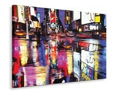 Nowy Jork Times Square Colours - Obraz na płótnie