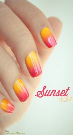 ~Ombré Sunset Inspiration nails | House of Beccaria#