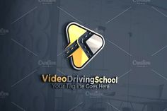 Video | Driving School Logo by REDVY on @creativemarket