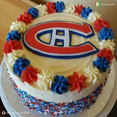 Montreal Canadiens Birthday Cake . . #montrealcanadiens #nhl #hockey #montreal #bluewhiteandred #birthday #cake #fondant #chocolatecake #swissmeriguebuttercream #instagood #pastrydelights #pastrylife #baking #sweet #instagood #yummy #yum #dessertdelights #delicious #desserts #bhgfood #undiscoveredbaker #treat #cakeporn #cakestagram #instacakers
