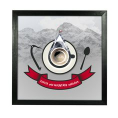 Coffee and Mountain Addiction - graphic by climbe