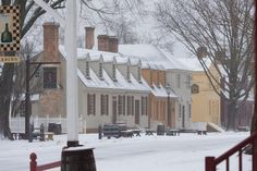 Colonial Williamsburg Transforms into a Winter Wonderland - January 2016 by Rachel West Z Williamsburg Virginia, Colonial Williamsburg, Wonderful Places, Beautiful Places, A Far Off Place, Williamsburg Christmas, Virginia Is For Lovers, Colonial America, Winter Wonderland