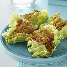 Turn simple chicken salad into a refreshing dinner by adding curry powder, almonds and raisins to the chicken and serving in crisp lettuce cups. Change the portion size to 4 lettuce cups for a main dish serving. Leftover Chicken Recipes, Leftovers Recipes, Healthy Chicken Recipes, Cooking Recipes, Chicken Leftovers, Dinner Recipes, Dessert Recipes, Cheap Party Food, Chicken Curry Salad