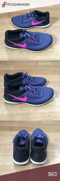Nike Flex Run sneakers Purple, pink and black Nike Flex Run sneakers. Reasonable offers are welcome, but no trades. Nike Shoes Sneakers