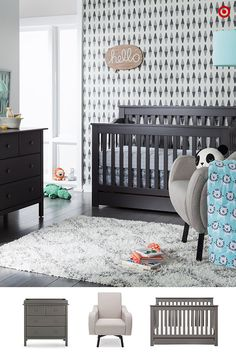 Create the perfect nursery for your baby in a few steps. Start with furniture—choose pieces that will grow with your little one, like the DaVinci Piedmont 4-in-1 convertible crib and Autumn changer dresser combo, and don't forget the comfy Delta Children Lux swivel chair. Next, add the crib bedding (lovin' the Sabrina Soto Leo collection!). And finally, add a few coordinating accessories to complete the look. Finished. Fabulous. Totally your style.