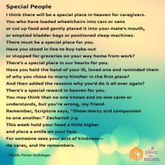 Special Poems For Caregivers