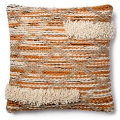 product image for Magnolia Home Hazel 18-Inch x 18-Inch Accent Pillow in Orange/Ivory