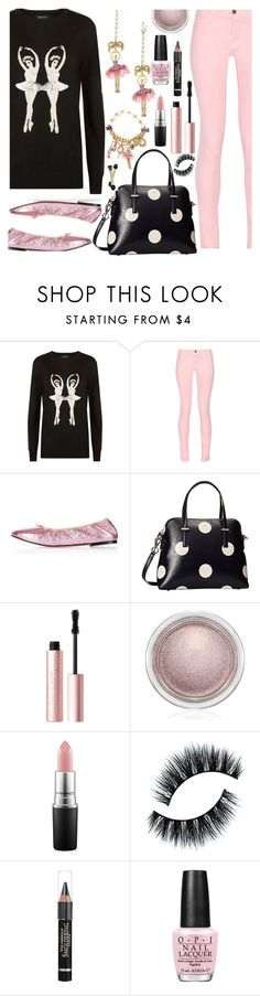 """Markus Lupfer Ballerina Sweater"" by deborah-calton ❤ liked on Polyvore featuring Markus Lupfer, Maison Kitsuné, Topshop, Kate Spade, Too Faced Cosmetics, MAC Cosmetics, Anrealage, OPI and MarkusLupfer"
