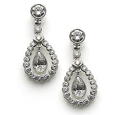 Diamond Drop Earrings, Diamond Pendant, Pear Shaped Diamond, Diamond Cuts, Bridal Earrings, Bridal Jewelry, Bridal Jewellery Inspiration, Pendant Earrings, Antique Jewelry