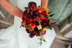 Katka a Honza / podzimní svatební kytice