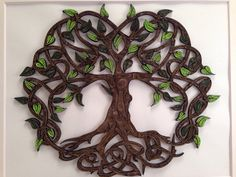 Celtic Tree Of Life quilled art Framed art 11x14 von jgaCreations