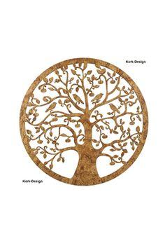 Baum des Lebens Holz 39 cm Lebensbaum Dekoration Wandbild Wanddekoration Kork Designs Geschenksidee