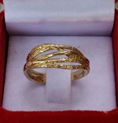 Wedding Gold Ring 14K Yellow Gold Band Wedding Gold by TalyaDesign