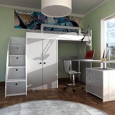 Muebles de dormitorio para espacios reducidos buscar con - Camas altas ninos ...