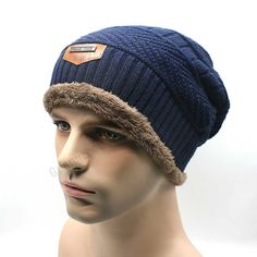 Men's Skullies Winter Knitted Hat Male Sports Brand Outdoor Beanies Cap Casual Solid Sets Headgear Hats Beanie For Men Balaclava