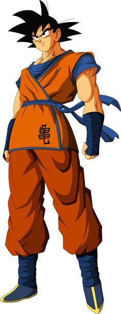 Goku rocking his new outfit. #dbz #anime #dragonball